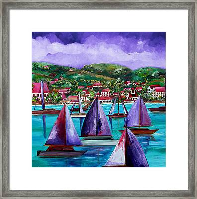 Purple Skies Over St. John Framed Print