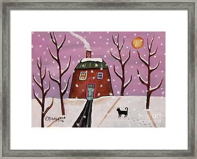 Purple Sky 2 Framed Print by Karla Gerard