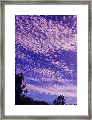 Purple Sky At Casapaz Framed Print by Jack Eadon