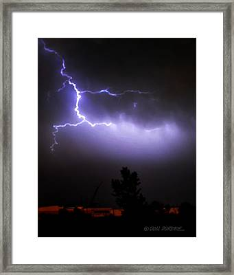 Framed Print featuring the photograph Purple Sky Lightening by Don Durfee