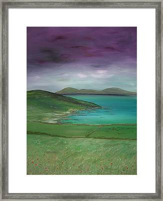 Purple Sky Over Donegal Framed Print by Maurice Noble