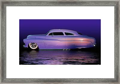 Purple Sled Framed Print