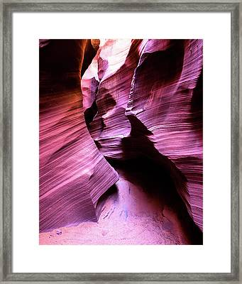 Framed Print featuring the photograph Purple Slot Canyon - Tall by Stephen Holst