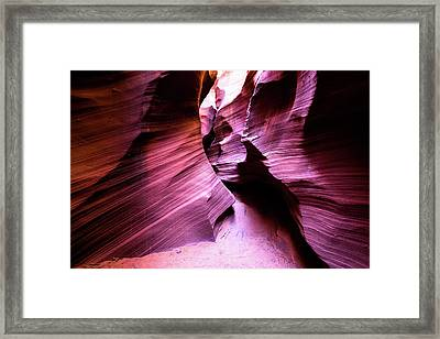 Framed Print featuring the photograph Purple Slot Canyon - Wide by Stephen Holst