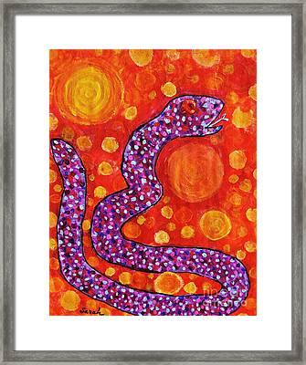 Purple Snake In A Hot Desert Framed Print by Sarah Loft