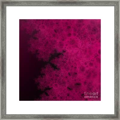 Purple Snowvember Night Fractal Framed Print