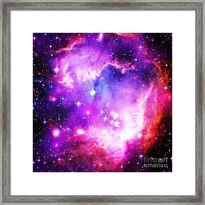 Purple Space Framed Print by Johari Smith