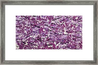 Purple Splatter Framed Print