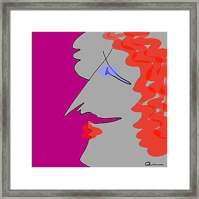 Purple Stache Framed Print