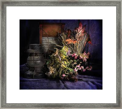Purple Still Framed Print by Camille Lopez