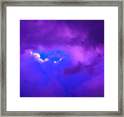 Purple Storm Framed Print by Gwyn Newcombe