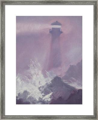 Purple Storm Framed Print