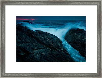 Waves At Sunrise Framed Print