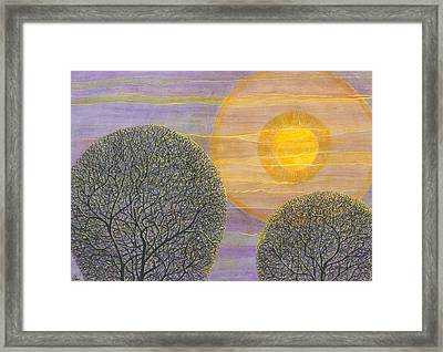 Purple Sunset Framed Print by Charles Cater
