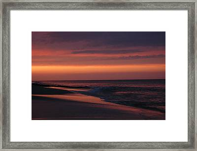 Purple Sunset Framed Print by See Me Beautiful Photography
