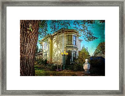 House With The Purple Swing Framed Print
