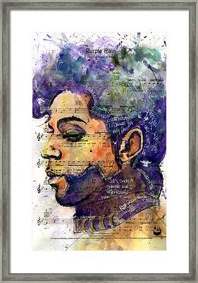 Purple Tears Framed Print by Howard Barry