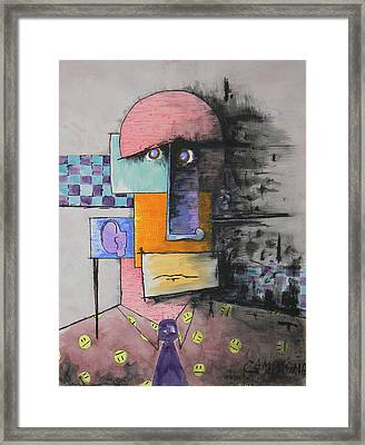 Purple Tie Framed Print