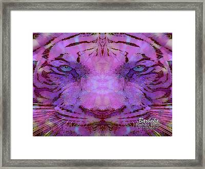 Framed Print featuring the photograph Purple Tiger by Barbara Tristan