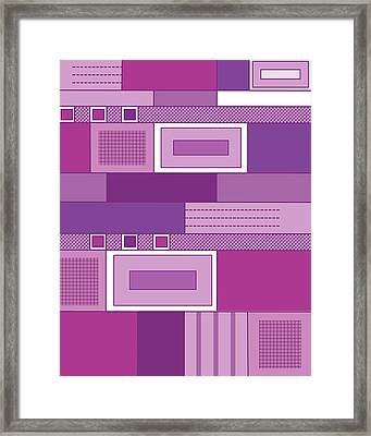 Purple Time Framed Print