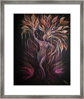 Purple Tree Goddess Framed Print