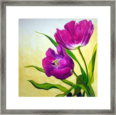 Purple Tulips Framed Print by Scott Gordon