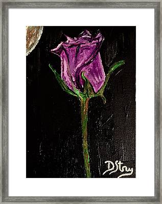 Purple Under The Moon's Glow Framed Print