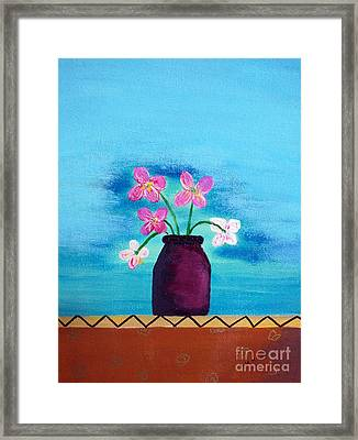 Purple Vase Framed Print
