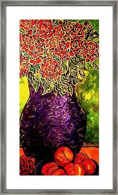 Purple Vase Framed Print by Laura  Grisham