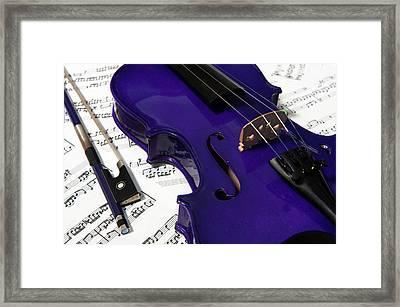 Purple Violin And Music V Framed Print
