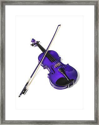 Purple Violin Framed Print