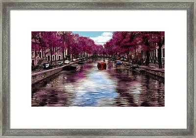 Purple Water Framed Print