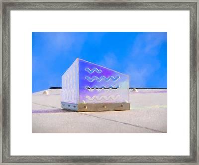 Purple Waves Framed Print