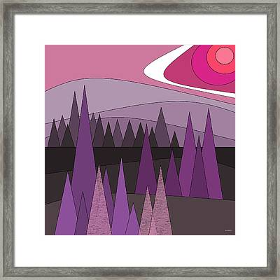 Purple Whimsy Framed Print by Val Arie