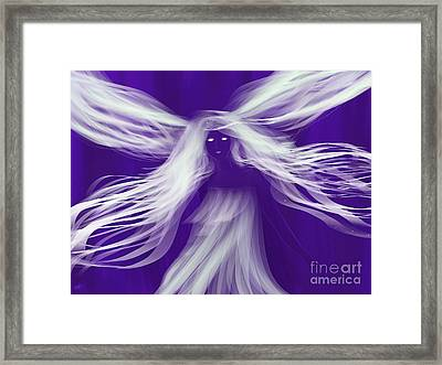 Purple Woods Faerie Framed Print