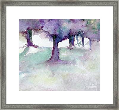 Purplescape II Framed Print