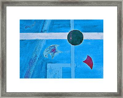 Purposphere Gone Blue Framed Print