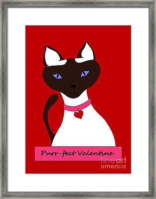 Purr-fect Valentine Framed Print