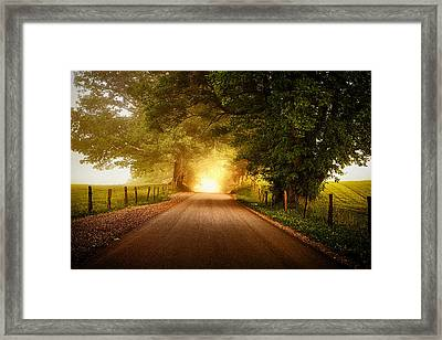 Pursuing The Light Framed Print by Andrew Soundarajan