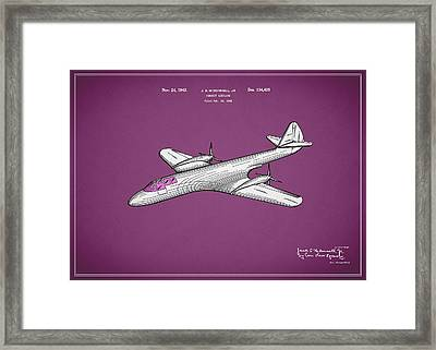 Pursuit Airplane Patent 1942 Framed Print by Mark Rogan