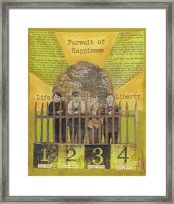 Framed Print featuring the mixed media Pursuit Of Happiness by Desiree Paquette