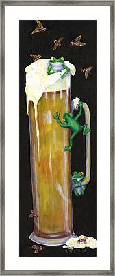Pursuit Of Hoppiness Framed Print by Debbie McCulley