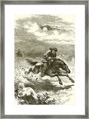 Pursuit Of Paul Revere Framed Print by English School