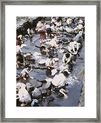 Pusan Laundrymat 1966 Framed Print by J Hawkeye