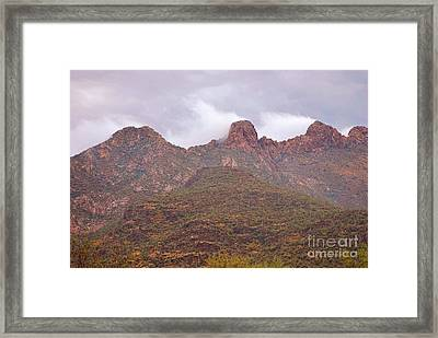 Pusch Ridge Tucson Arizona Framed Print