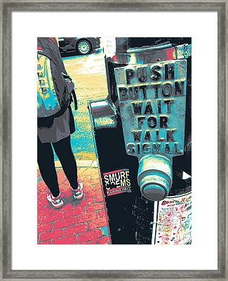 Push Button Framed Print