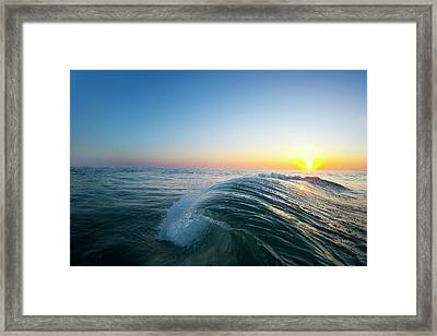 Push Curl Framed Print