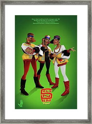 Push It Framed Print