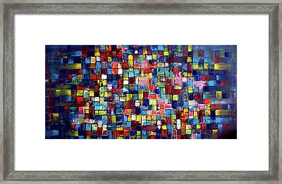 Push My Buttons Framed Print