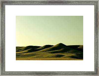 Pushed Blanket Framed Print